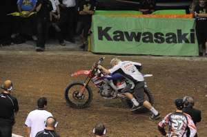 Matt Jory won the second night mechanic challenge. I wonder if his supermoto experience helped him out?