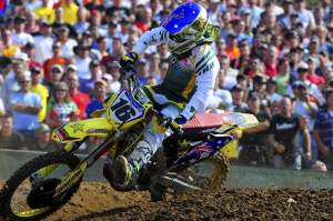 Chad Reed finished second in the opening moto.