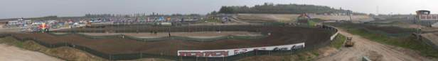 Panoramic view of the track