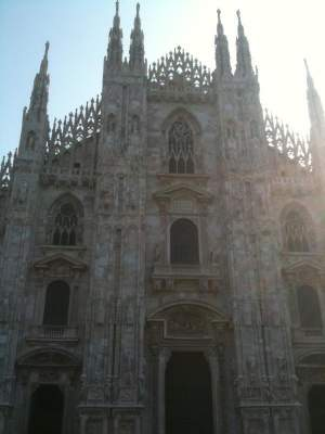 The third largest church in the world, Il Duomo.