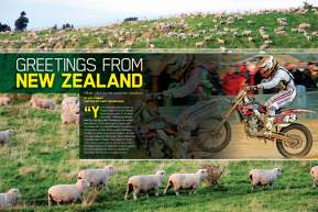 After grueling races at Ponca City and Loretta Lynn's, top amateur prospect Eli Tomac trekked to New Zealand for the FIM Junior Motocross World Championship. He also found the time to file this report. Page 140.