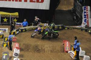 Villopoto and Stewart banged bars a little bit, but Stewart had the race handled.