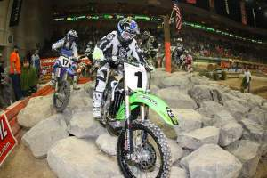 I wonder if we'll see Ricky at any supercrosses? That would be cool. I just remembered that I was going to make a joke about the dude in one of the races that had an oversize enduro tank on his KTM and it was filled to the absolute top. For a 4-lap Endurocross race. Did he think he was at Dakar?