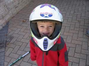 Future motocrosser Ryan Bussen, age 3.