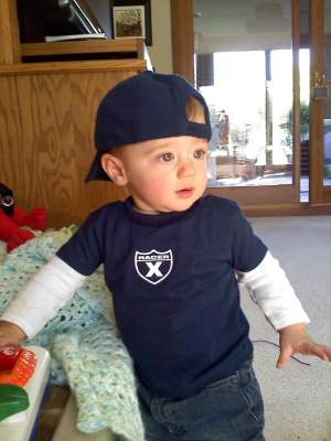 Feld's Director of SX Dave Prater's son, Colton, rockin' Racer X.