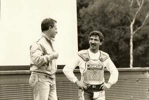 The GP legends, Geboers and Jobe chat.