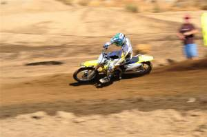 Sean Thomas of Goongraphx sent over a couple shots of Langston out at Perris on a Suzuki RM-Z