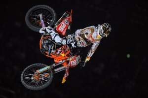 Musquin's not afraid to throw the bike around.