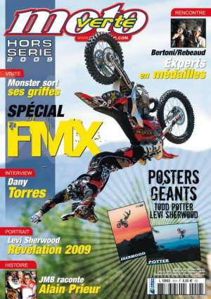 Moto Verte Freestyle special issue. Inside, 2 beautiful posters of Levi Sherwood and Todd Potter.