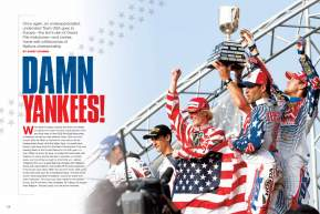 It's the United States against the rest of the world in another Motocross of Nations battle. Page 128.