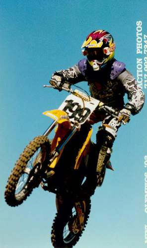 Travis Pastrana was a regular presence at the front of the amateur pack.