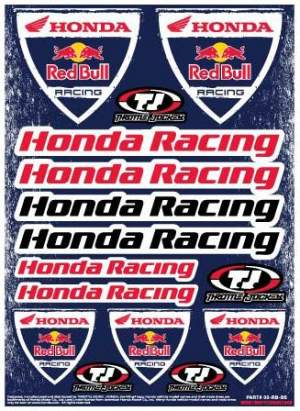 Throttle Jockey Honda Red Bull Racing Stickers