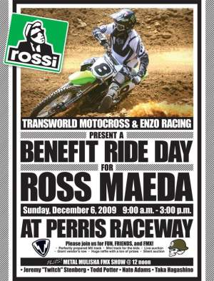 Ross Maeda's benefit ride day is coming up.