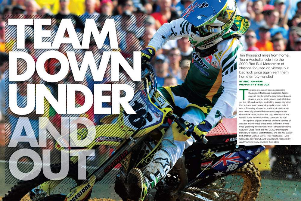 Australia was the favorite to win the Motocross of Nations, until things went sideways. Page 172.