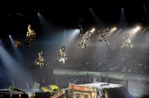 How many riders can you count in the air in this shot?