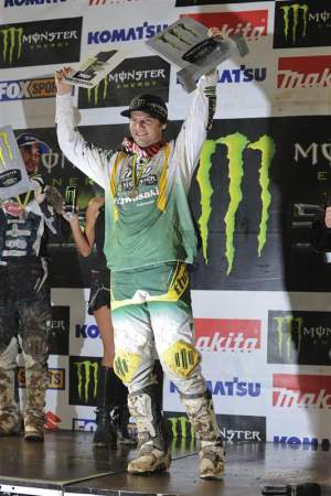 Chad Reed holds up the number-one plate yet again.
