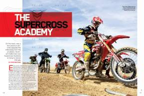Supercross may be an individual sport, but a new California school wants privateers to find strength—and improved results—in numbers. Page 168.