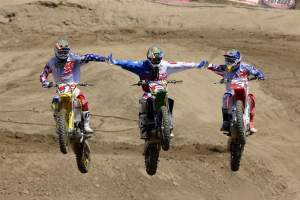 The jerseys of Team USA's Dungey, Weimer and Tedesco went for $6500 to benefit Ross Maeda last Sunday at Perris Raceway.