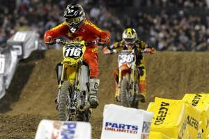 Ryan Morais (116) fought of Trey Canard (38) for as long as he could.
