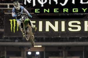 Villopoto was fifth after getting a little beat up in a practice crash.