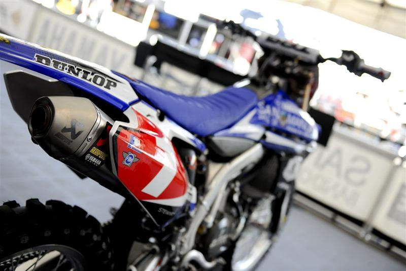 James Stewart's number-one Yamaha Y450F.