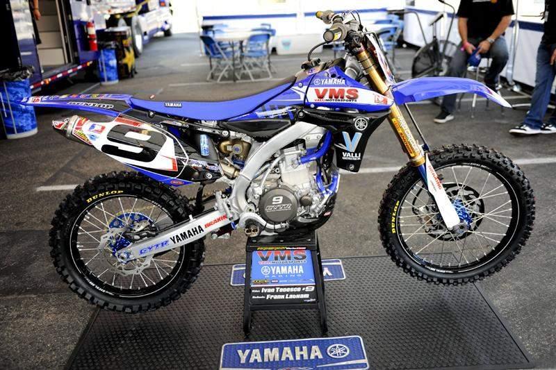 Ivan Tedesco's Valli Yamaha YZ450F.
