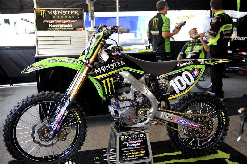 Josh Hansen's Monster Energy/Pro Circuit Kawasaki KX250F.
