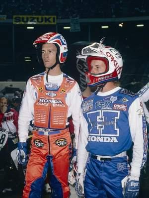 David Bailey and Rick Johnsin, circa 1986.