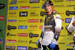 Jake Weimer after winning the Phoenix Supercross for the second time in his career.