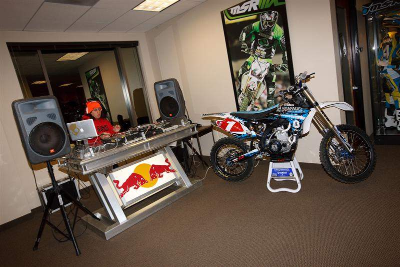 Red Bull's DJ and Stewart's YZ450