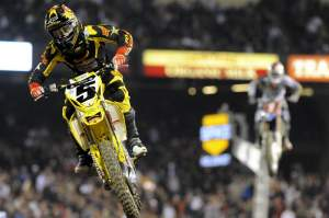 Ryan Dungey (5) and James Stewart (1) duked it out at Anaheim I.