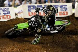 Ryan Villopoto finished a distant second, which was much better than his first race at Anaheim.