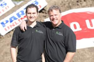 Supercross Live! hosts Jason Weigandt and Jim Holley