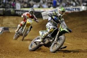 Jake Weimer (12) leads friend Ryan Morais (116) late in the Phoenix Lites main.