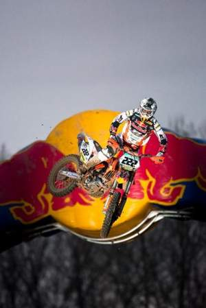 Tony Cairoli notched a win for KTM at the 2010 Mantova Starcross.