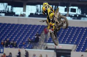 Not many crazy scrubs or revs from Barcia today. He's just getting warmed up.
