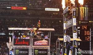 Trey Canard's fast lap led him to the SFSX win.