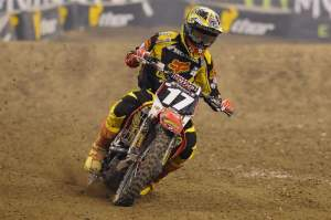 Justin Barcia made a last-lap pass on Ryan Sipes to finish third after running second early on.