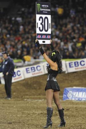 The infamous 30-second-board girl.