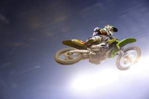 Christophe Pourcel won the Lites main going away. Why did people think it was