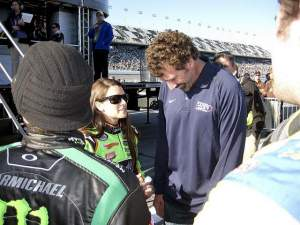 RC chats it up with Danica Patrick and Boris Said.