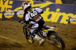 Austin Stroupe rode the new 2010 Suzuki RM-Z450 with EFI to second.