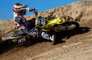 Austin Stroupe will be debuting the 2010 fuel-injected RM-Z250 in Indy.