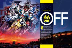 Almost nothing went according to plan at the start of the 2010 Monster Energy AMA Supercross Season. Page 152.