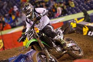 Ryan Villopoto put in the fastest lap of the night while mounting a comeback.