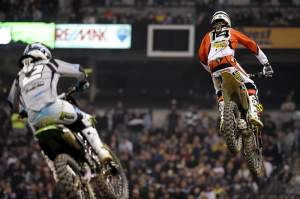 Kevin Windham (14) fought off Villopoto for as long as he could. He still finished third.