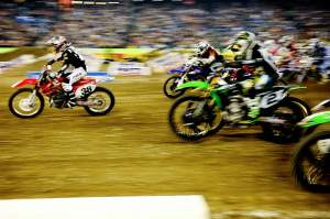 Now THAT is a holeshot...
