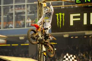 Justin Barcia finally put it all together and took his first SX win of his career with a wire-to-wire run out front.