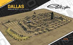 The Dallas SX track diagram.