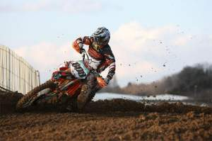 Mike Alessi on the new KTM 350.